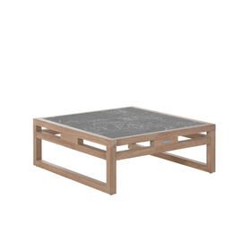 natural teak outdoor low coffee table