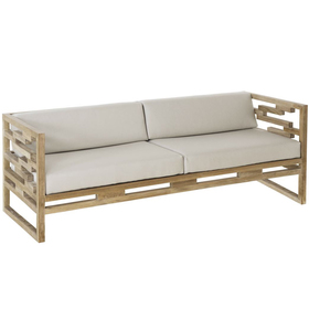 natural teak outdoor sofa